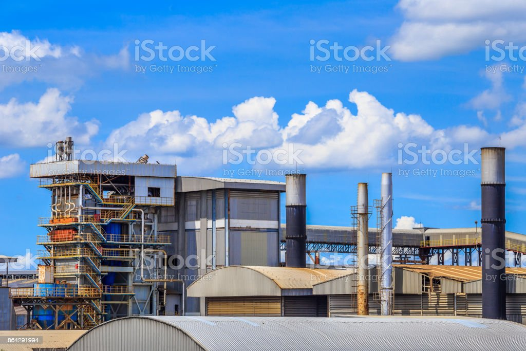 Equipment in Oil refinery in blue sky royalty-free stock photo