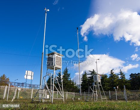 istock Equipment meteorological station to monitor weather events 628746464