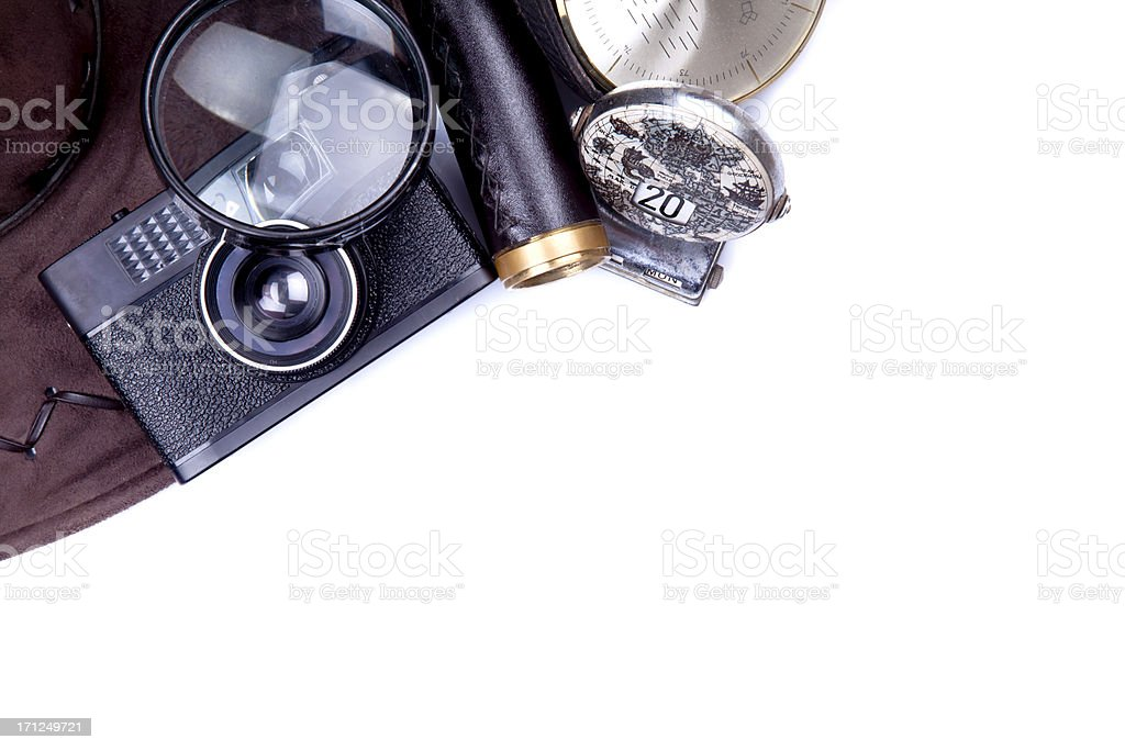 equipment of a traveler royalty-free stock photo