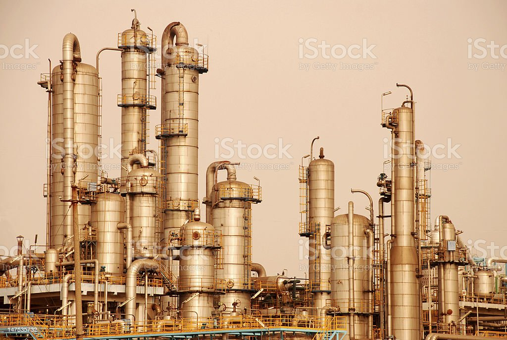 equipment of Petroleum Chemical Factory stock photo