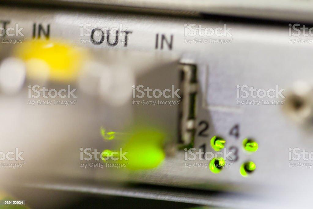 Equipment of radio base station close-up. Internet. Communication. Network stock photo