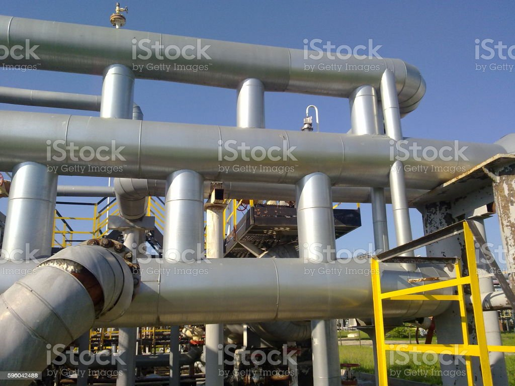 Equipment oil fields royalty-free stock photo