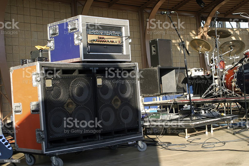 Equipment on stage royalty-free stock photo