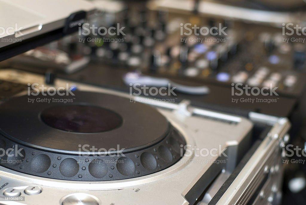 DJ equipment royalty-free stock photo
