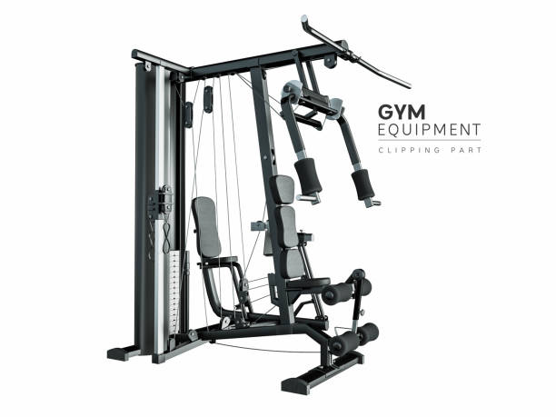GYM equipment. GYM equipment. clipping part in the file for your convenience. 3D rendering and illustration. exercise machine stock pictures, royalty-free photos & images
