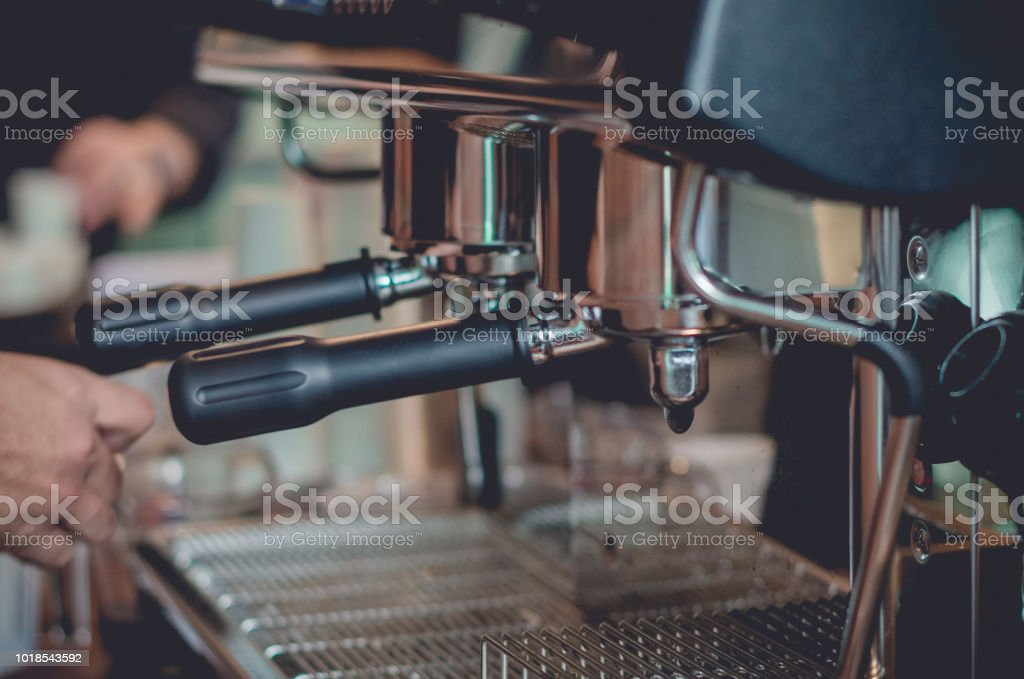 equipments for make espresso in coffee shop