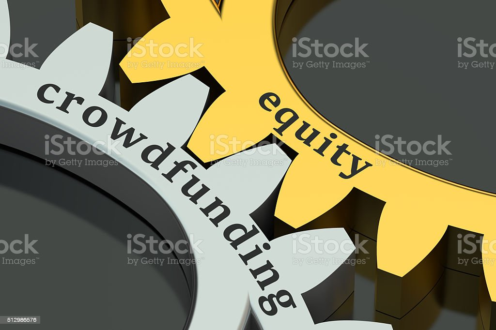 equity crowdfunding concept stock photo