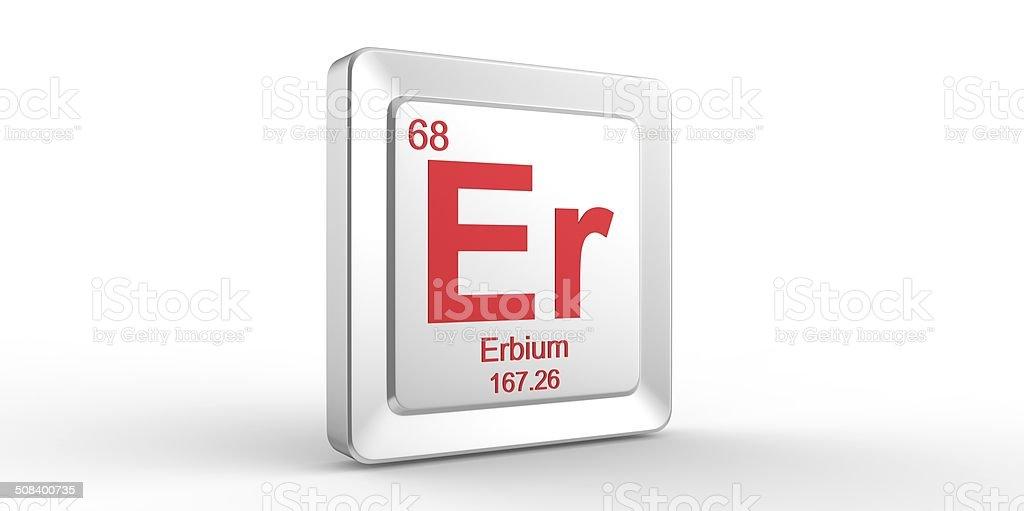 Er Symbol 68 Material For Erbium Chemical Element Stock Photo More