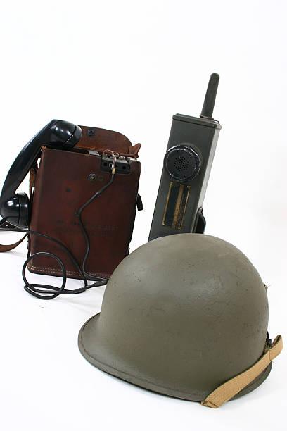 Comunicações da época da Segunda Guerra Mundial - foto de acervo