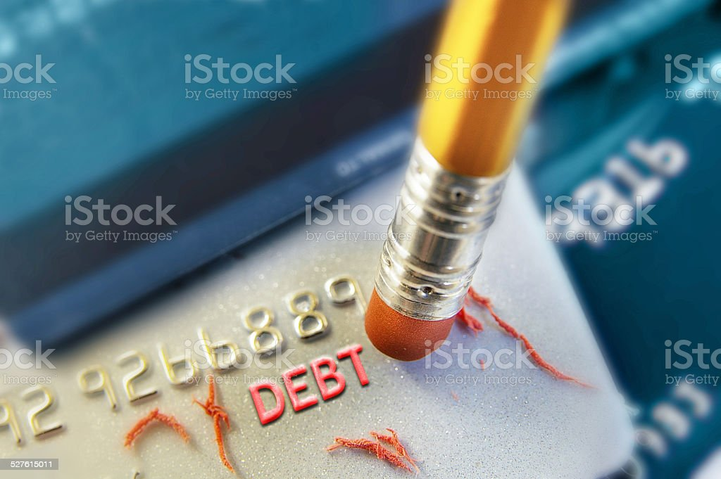 erase a debt stock photo