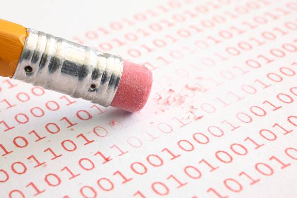 erase binary data - delete key stock photos and pictures