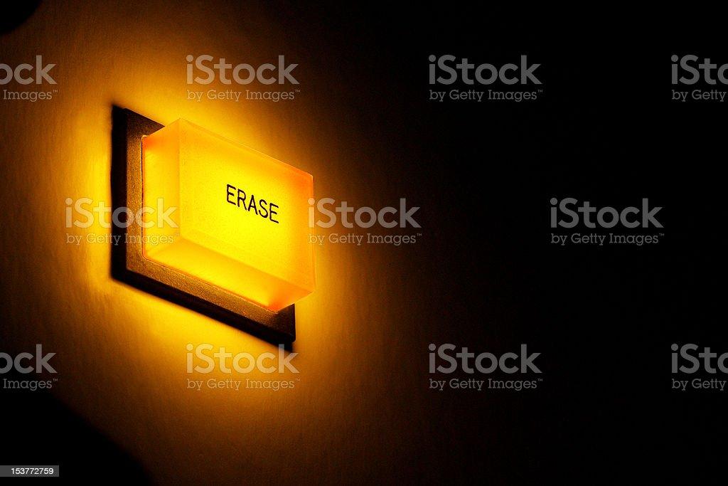 Erase button stock photo