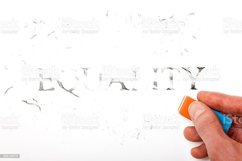 Erase Equality stock photo