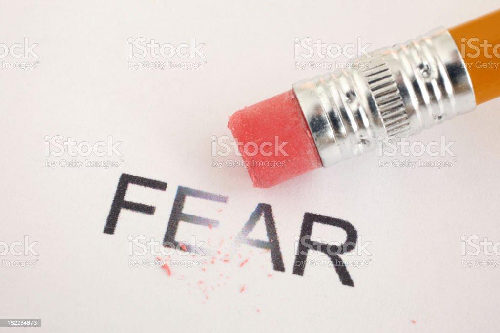 Erase Fear stock photo