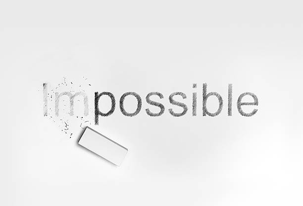 "eraser and words ""impossible"", ""possible"" - possible stock photos and pictures"