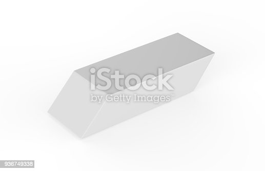 istock Eraser on white background 936749338