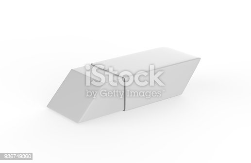 istock Eraser on white background 936749360