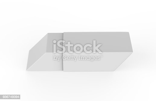 istock Eraser on white background 936749394