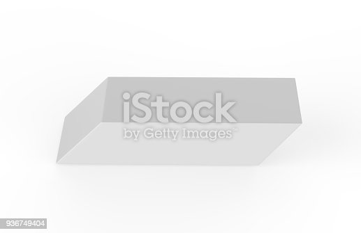 istock Eraser on white background 936749404
