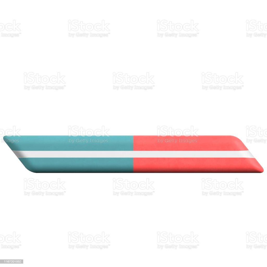 3D rendering illustration of an eraser