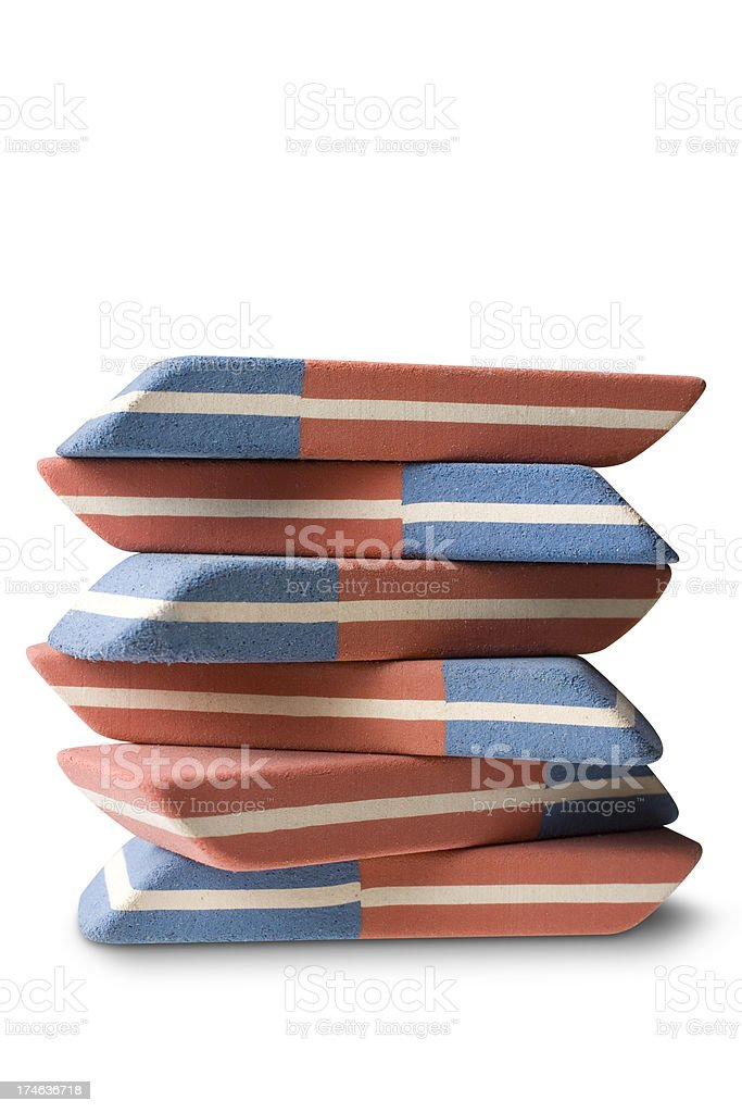 Erasers royalty-free stock photo