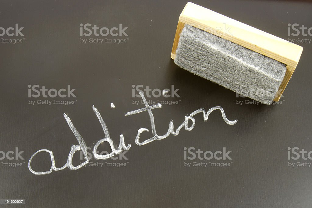 Erasing Addiction stock photo