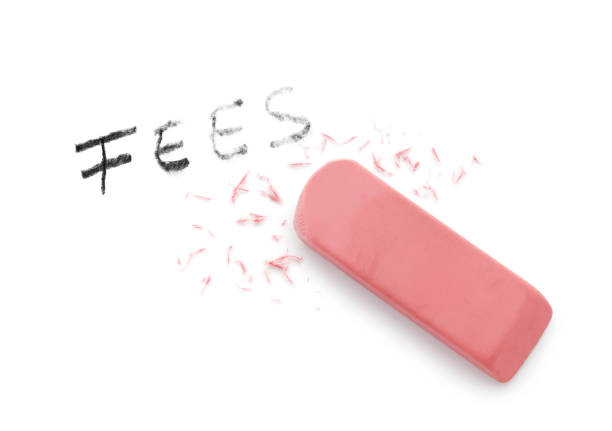Erasing Fees Erasing fees concept fee stock pictures, royalty-free photos & images