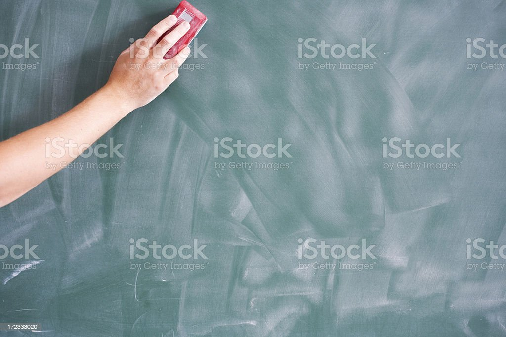 Erasing stock photo