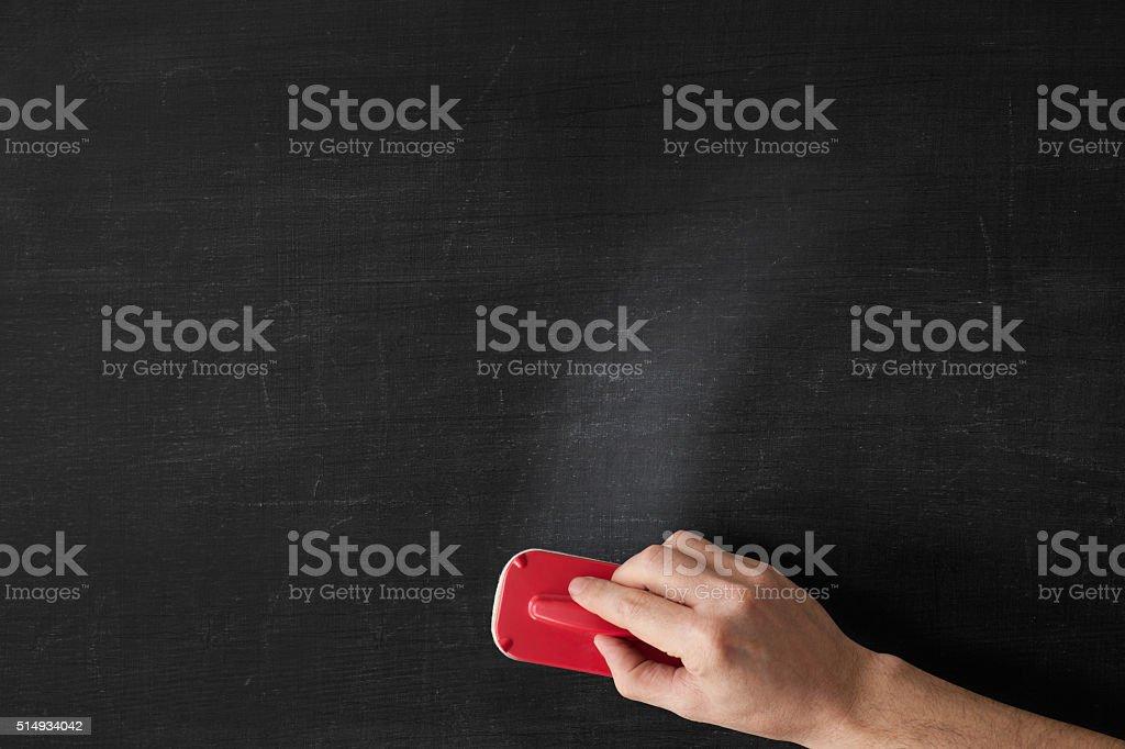 Erasing stock photo