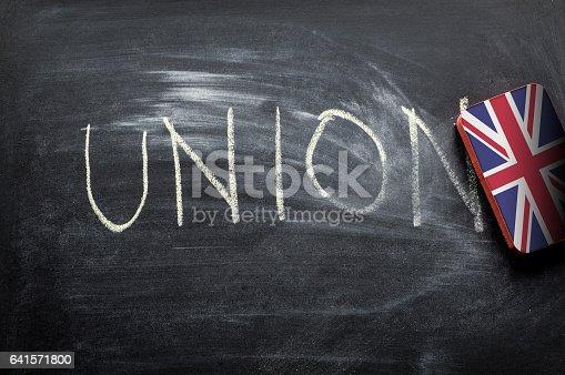 istock erasing union, brexit concept 641571800