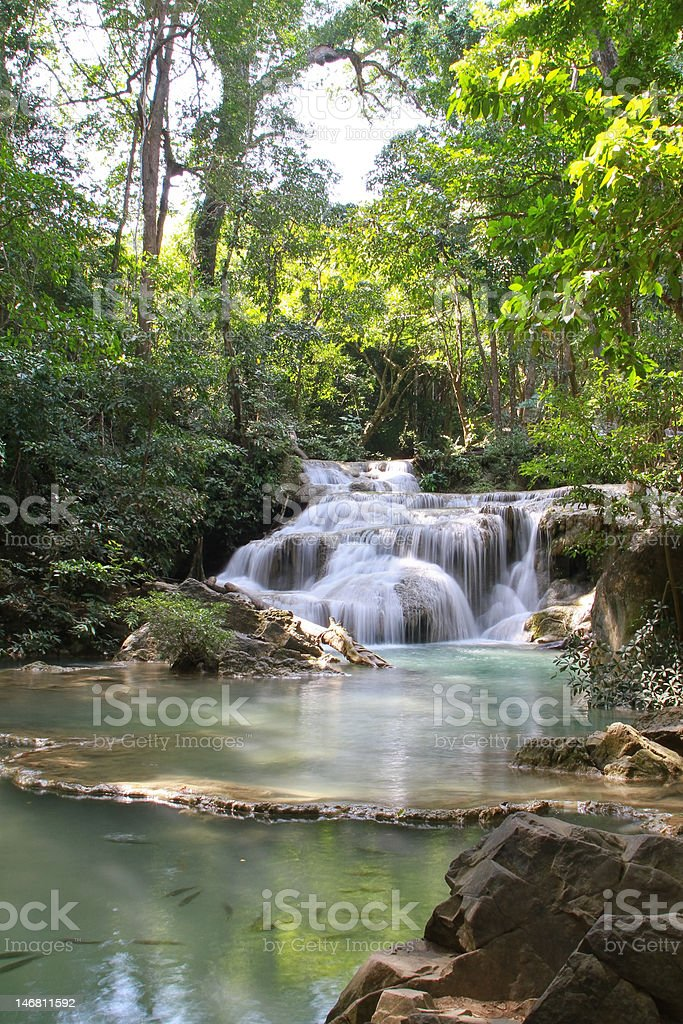 Erawan fall royalty-free stock photo
