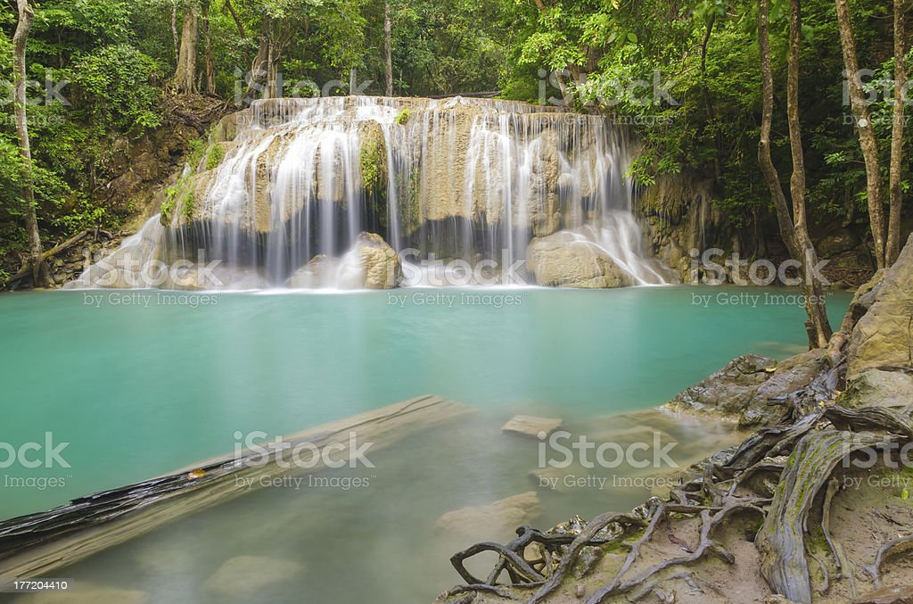 Erawan waterfall level 2. royalty-free stock photo