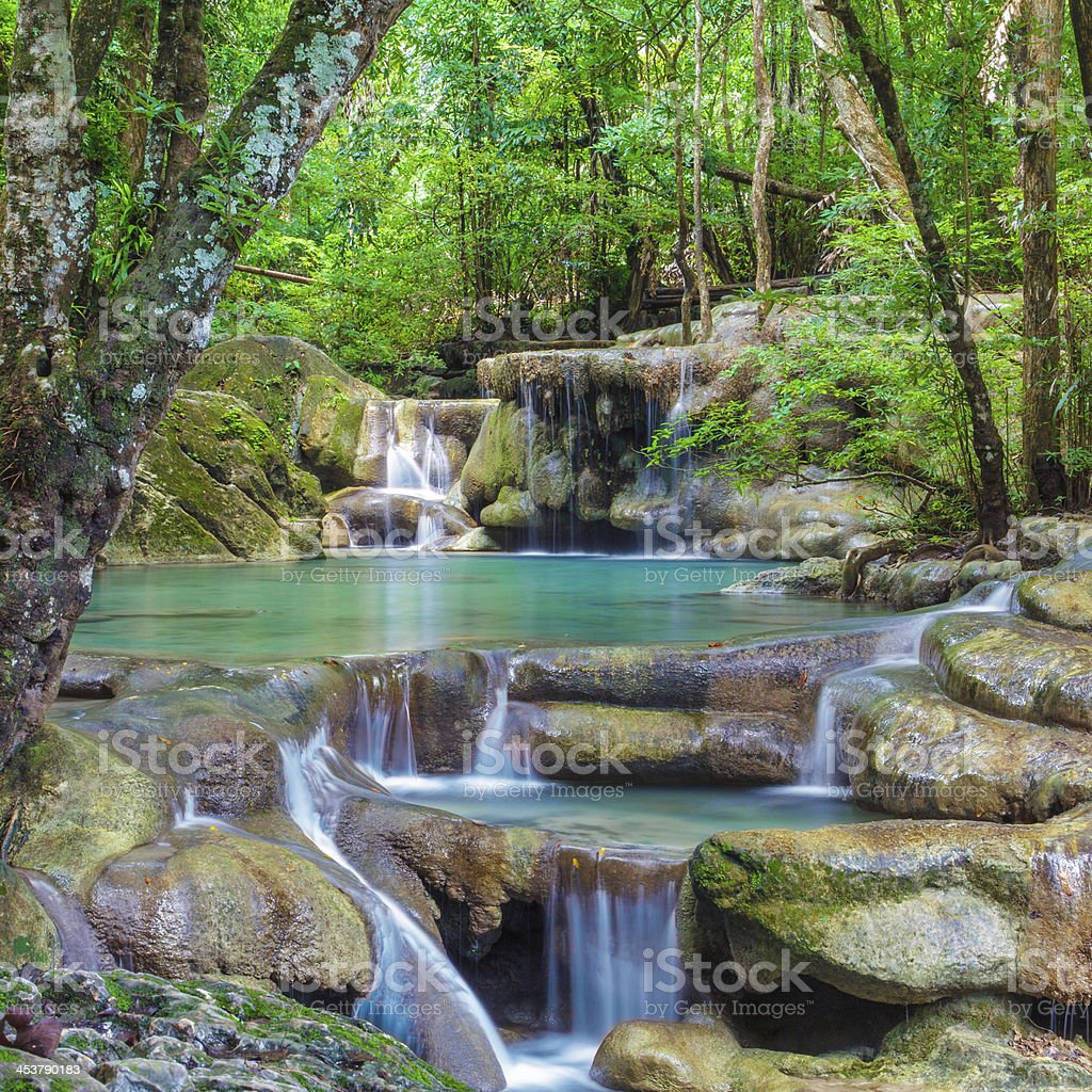 Erawan Waterfall royalty-free stock photo