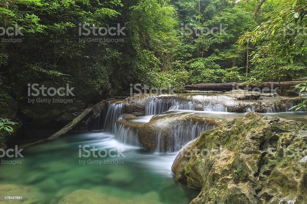 Erawan Waterfall. royalty-free stock photo
