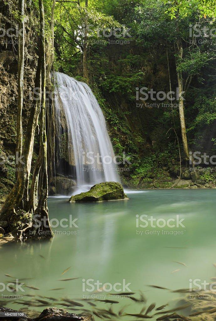 Erawan waterfall, Thailand royalty-free stock photo