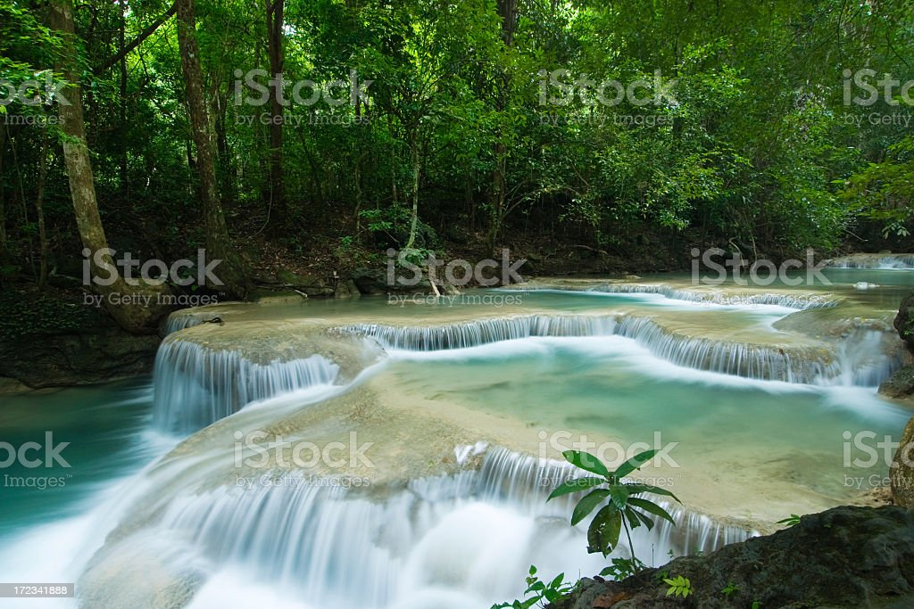 Erawan Waterfalls royalty-free stock photo