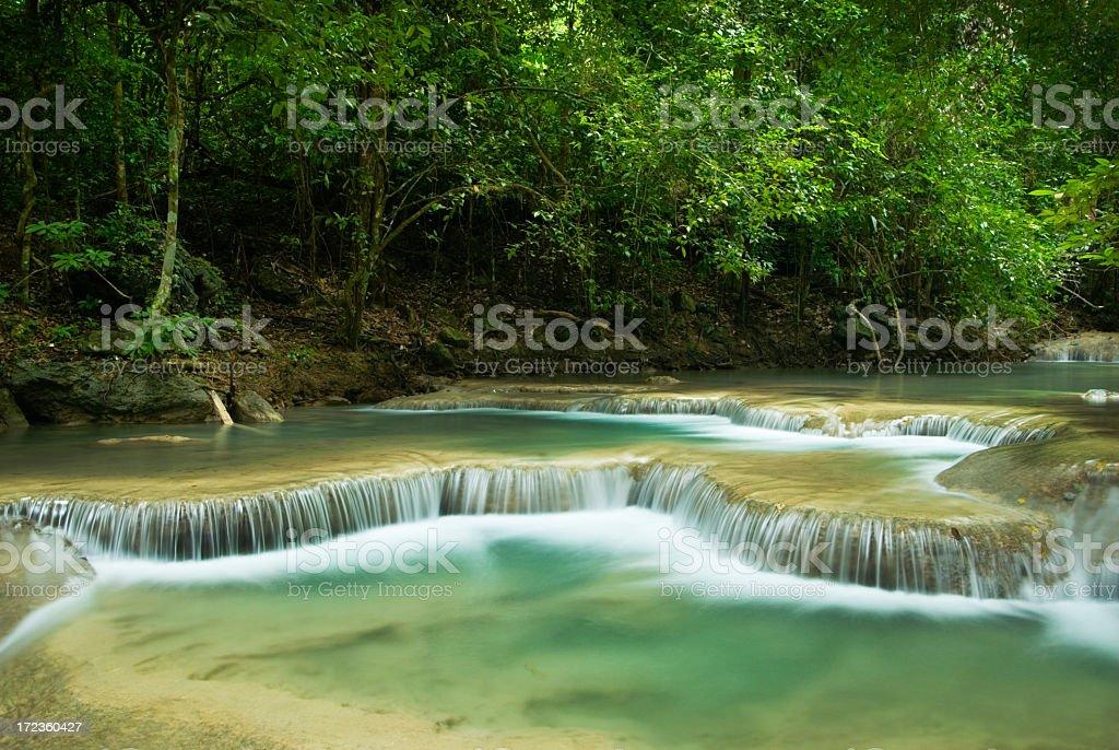 Erawan Waterfalls royalty-free stock photo