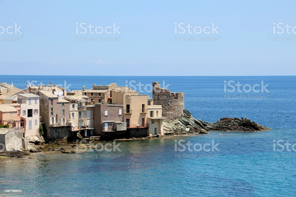 Erbalunga village in Corsica stock photo