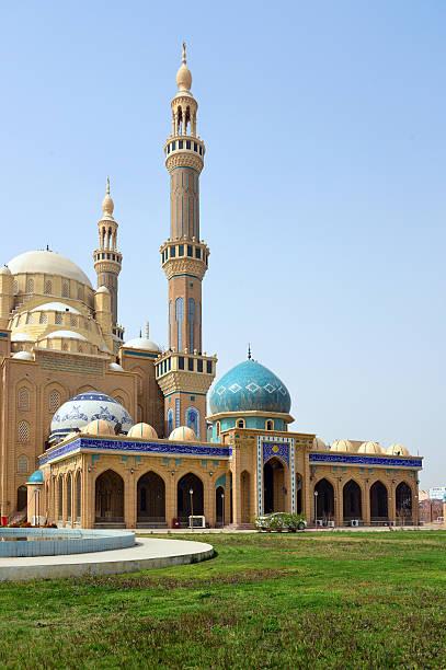 in arbil, kurdistan, irak: jalil khayat-moschee - kurdische sprache stock-fotos und bilder