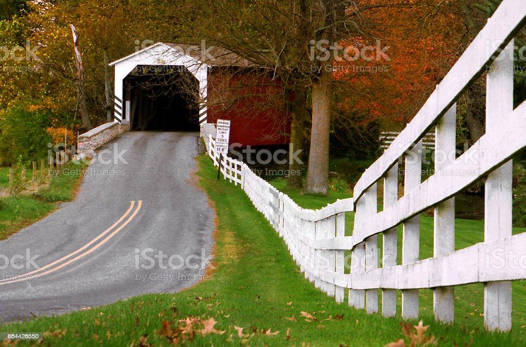 Erb's Covered Bridge, Lancaster County, Pennsylvania. stock photo