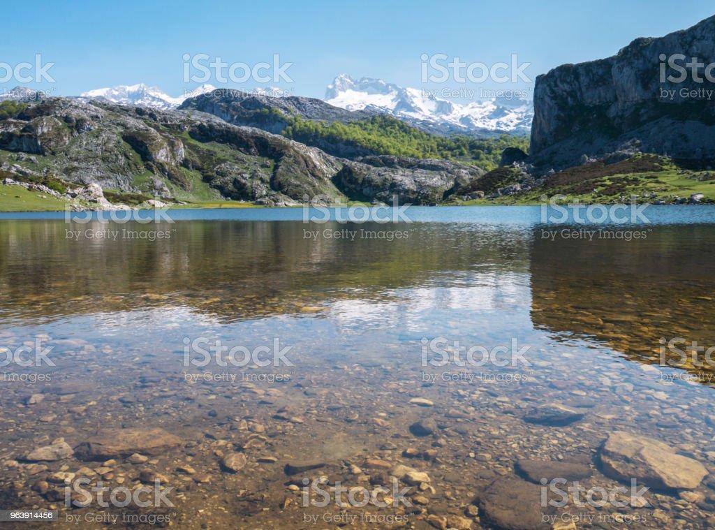 Ercina lake in the Picos de Europa national park, Spain, Asturias - Royalty-free Asturias Stock Photo