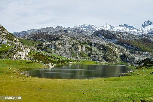 Ercina lake in Asturias, Spain.