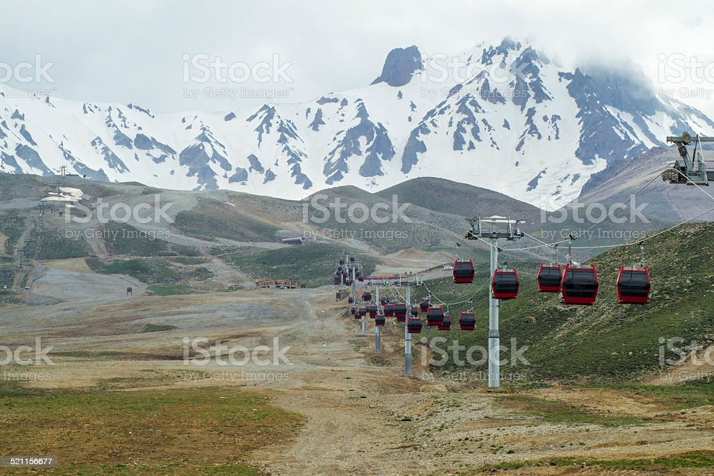 Erciyes Cableway stock photo