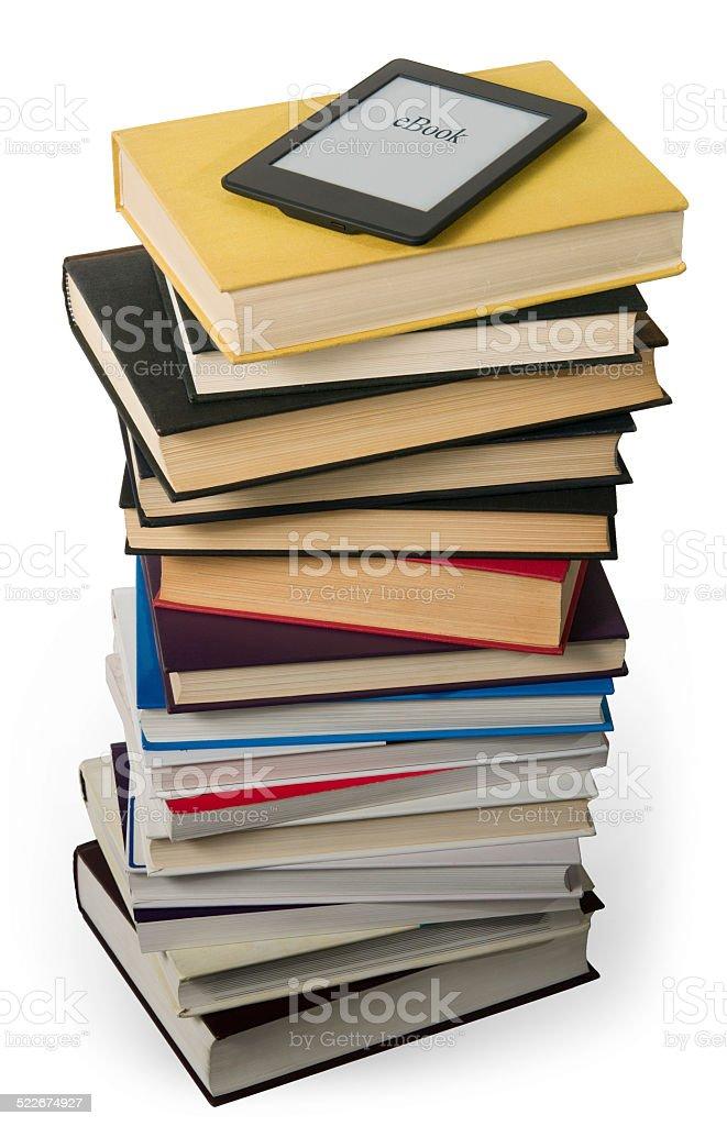Ereader Versus Textbook Stock Photo Download Image Now