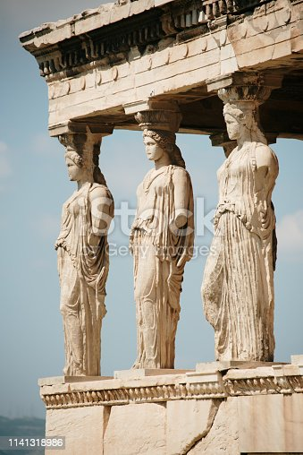 Erechteion temple, Acropolis, Athens, Greece