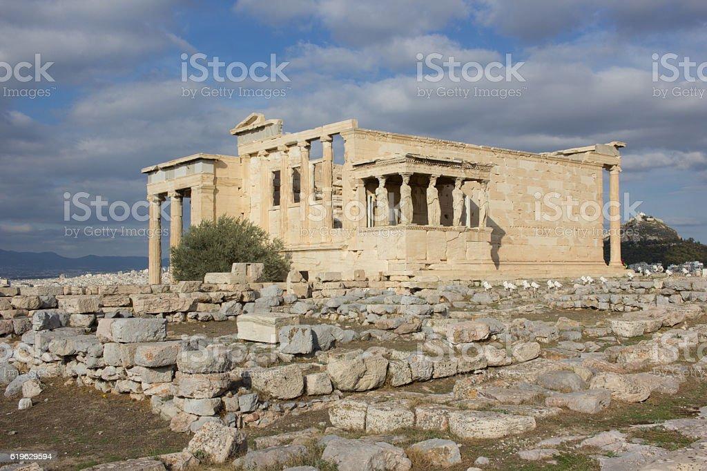 Erechtheion Acropolis stock photo