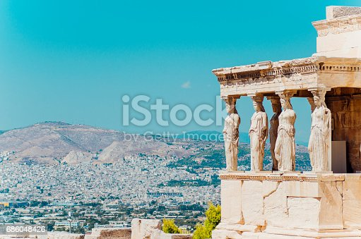 Erechtheion temple in Athens, Greece.