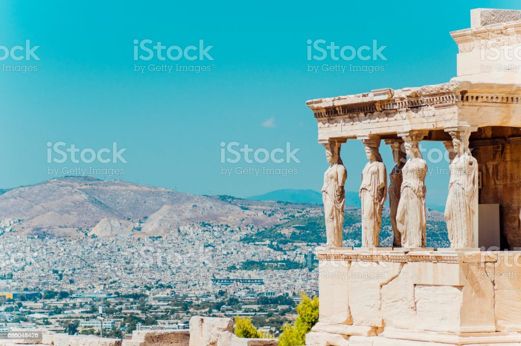 Erechtheion temple, Athens. stock photo