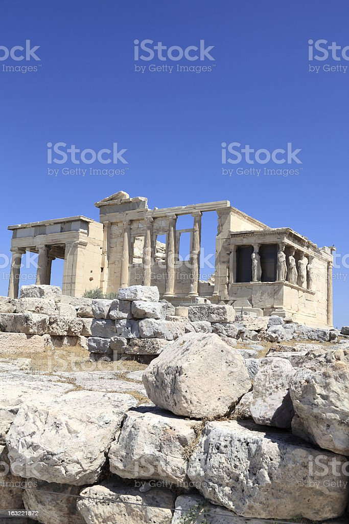 Erechtheum ancient temple royalty-free stock photo