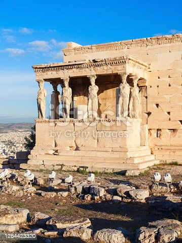 The Erechtheion or Erechtheum is an ancient Greek temple on the Acropolis of Athens in Greece which was dedicated to both Athena and Poseidon.